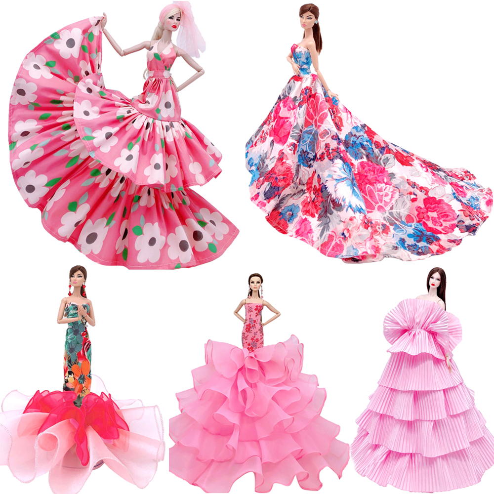 NK Newest Princess Wedding Dress+ Veil Noble Party Gown For Barbie Doll Fashion Design Outfit Best Gift For Girl' Doll JJ image