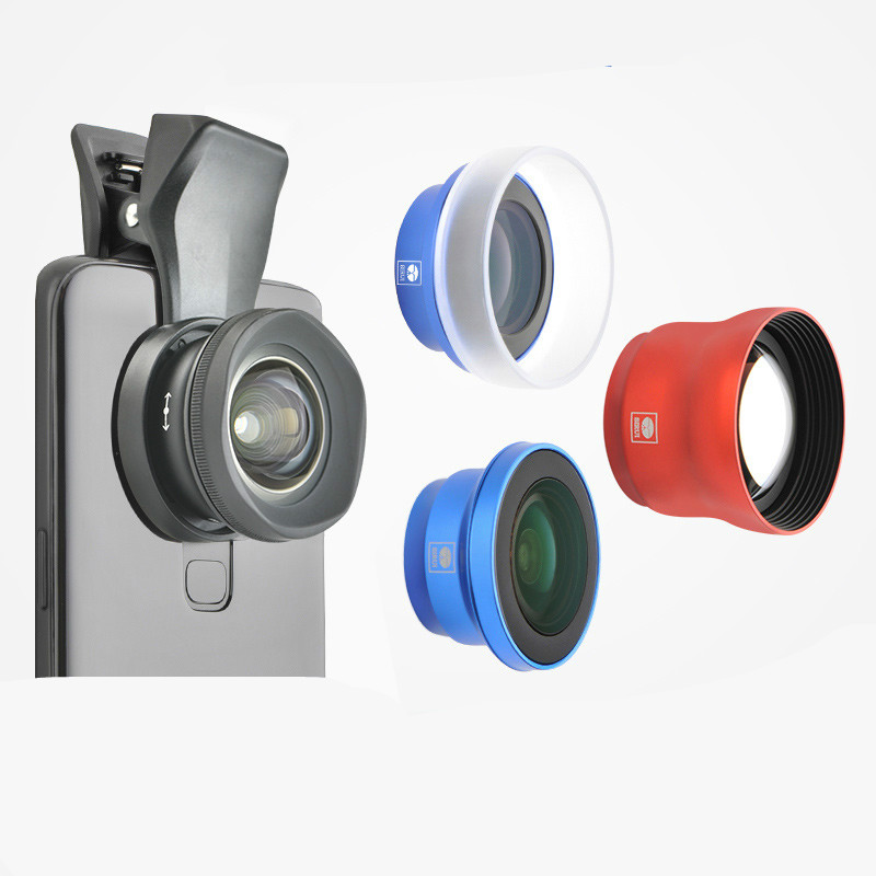 Mobile Lens External Camera Wide Angle Micro Portrait Fisheye Lens 6s 7p 8 Iphonex Professional Hd Photo Mobil image