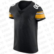 Customize Men Sports Fans Wear American Football Jerseys JuJu Smith-Schuster James Conner TJ Watt Devin Bush Joe Haden Mason Rudolph Cheap Pittsburgh Jersey