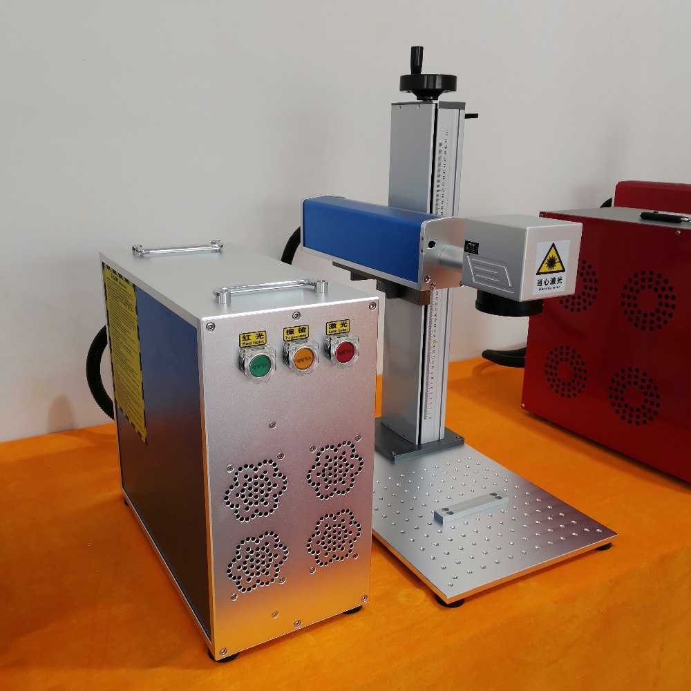 50w Fiber Laser Marking Machine With Rotary Tools For Engraving and Cutting