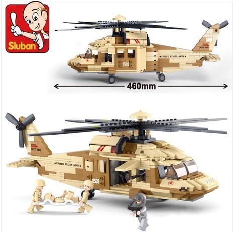 439pcs/set  0509 War Military Helicopter Building Blocks Helicopter Airplane Model Kit Planes DIY  model kit  christmas legoing Blocks     - title=