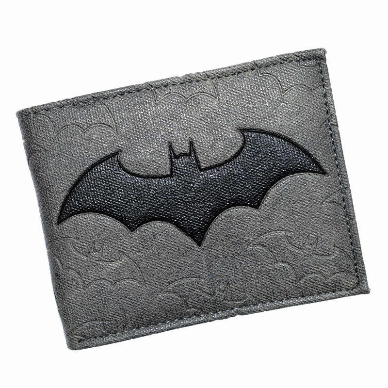 Cool Design DC Wallet High Quality Batman Wallets PU Leather Purse for Man Boy