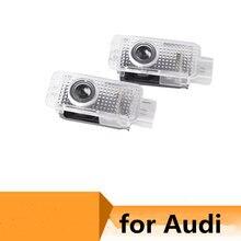 Para Audi A1 A3 8P A4 B5 B6 B7 B8 A5 A6 C5 C6 C7 A7 A8 Q3 Q5 Q7 TT 8V R8 8L luces Logo puerta proyector LED de Decoración Accesorios