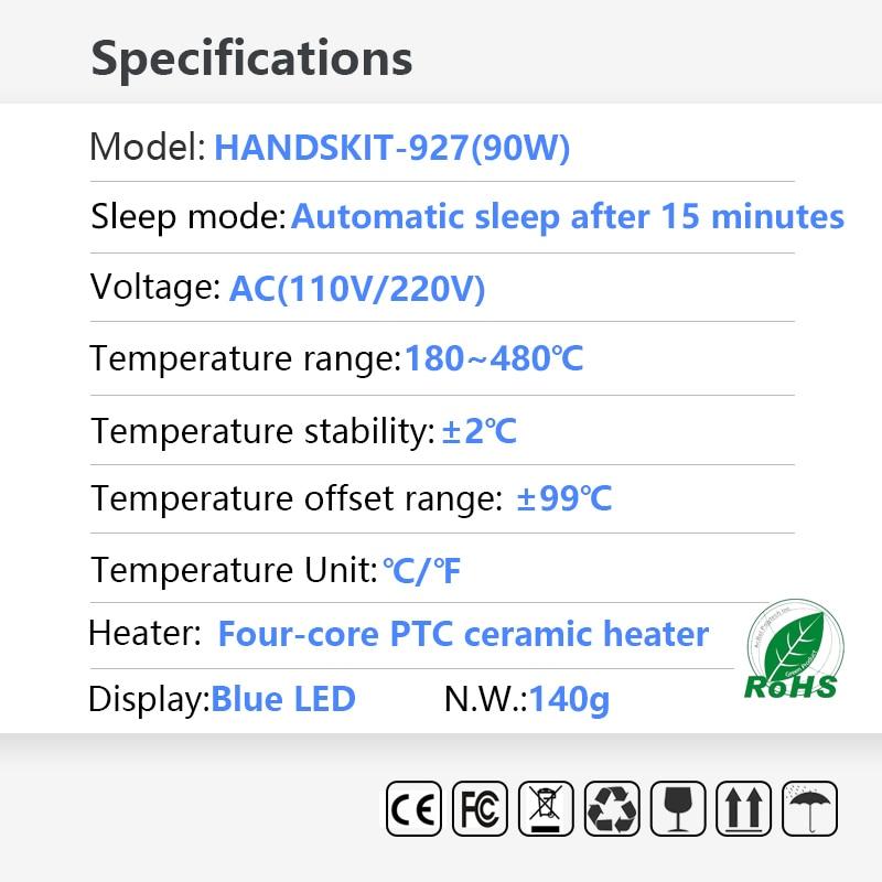 11 in 1 135W Elektrische Schweißen Lötkolben Einstellbare Temperatur Löten LCD