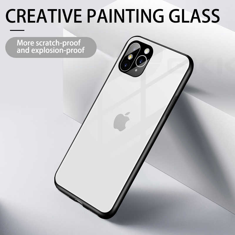 GKK Creative מקרה עבור Apple IPhone 11 X Xs Max XR 7 8 בתוספת מקרה נגד לדפוק מזג זכוכית כריכה קשה עבור IPhone 11 X Xs XR Coque