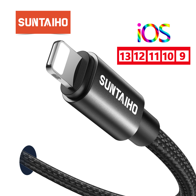 Suntaiho USB <font><b>Cable</b></font> for <font><b>iPhone</b></font> Charger <font><b>Cable</b></font> for <font><b>iPhone</b></font> <font><b>Cable</b></font> X XR MAX 5 5S 8 7 <font><b>6</b></font> 6s Plus 1m 2m <font><b>3m</b></font> for <font><b>iPhone</b></font> 5s Charging <font><b>Cable</b></font> image