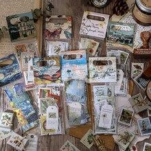 Journamm 60 sztuk Vintage przeszłości znaczki roślin naklejki Scrapbooking Planner Bullet Journaling etykiety dekoracyjne naklejki papiernicze