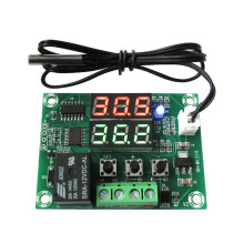Relay Tools Microcomputer Regulator Sensor DC12V Dual LED Display Temperature Controller Module With Cable Digital Thermostat(China)