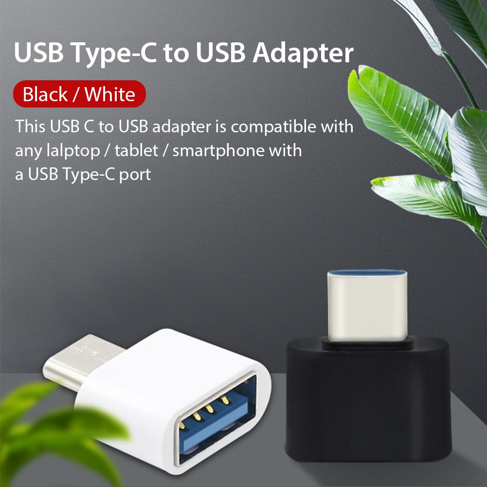 USB Type C OTG Adapter USB C Male To USB Female Cable Charger Cable Converters Black/White For Lalptop Tablet Smartphone