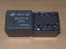 5 ชิ้น/ล็อต Auto Car 12V รีเลย์ YH119 012 1Z11 1A (T510) YH119 012 1Z11 1A 12VDC 4119 1C 7P 11MM DIP7