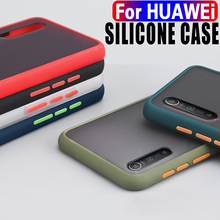 Funda de teléfono Mate Simple para Huawei P30, P20, P40 Lite, Mate 20, 30, 40 Pro, Honor 9X, 9A, 8X, a prueba de golpes, funda de silicona suave de TPU