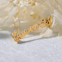 Su misura Nome Spilli Personalizzato Iniziale Spille Spilli Nome Spilla alfiler para regalo bodas Per Le Donne Degli Uomini