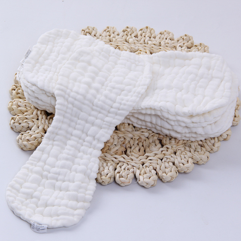 10/12 Layers Cotton Gauze Reusable Baby Diapers Washable Inserts Boosters Nappies Cloth For Newborn Infant Toddler 36*15/47*16CM