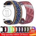 18mm 20mm 22mm Scrunchie Elastische Sport Strap für Samsung Galaxy Uhr 46mm band Nylon aktive 2 getriebe s3 band Für Frau Armband