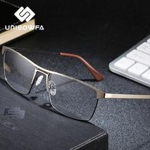 Optique Prescription lunettes cadre hommes Progressive myopie lunettes pour hommes cadre corée alliage plein cadre lunettes marque claire