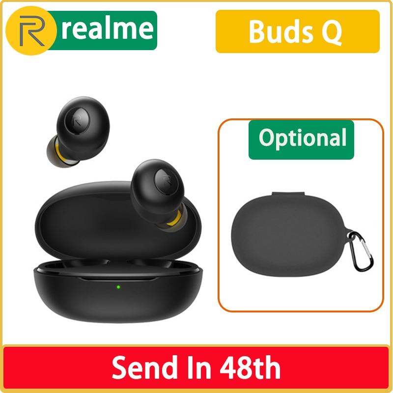 Оригинальные беспроводные наушники Realme Buds Q Bluetooth TWS зарядное устройство Bluetooth 5,0 для Realme X2 Pro X50 Pro 6 6i X7