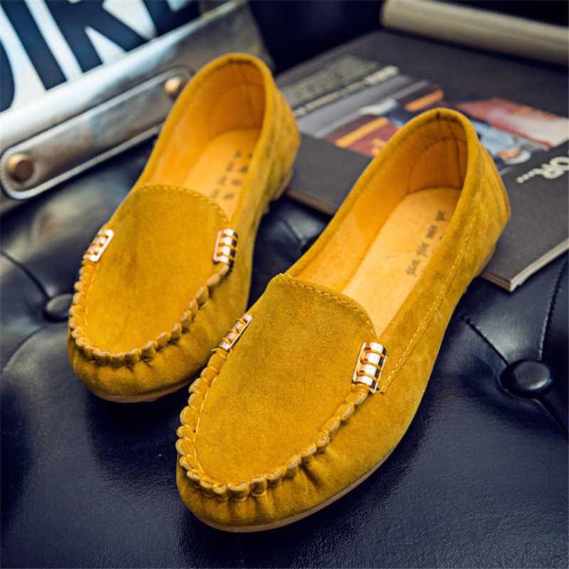 Femmes chaussures plates décontractées printemps automne mocassins plats femmes chaussures glisse doux bout rond Denim chaussures plates jean chaussures grande taille