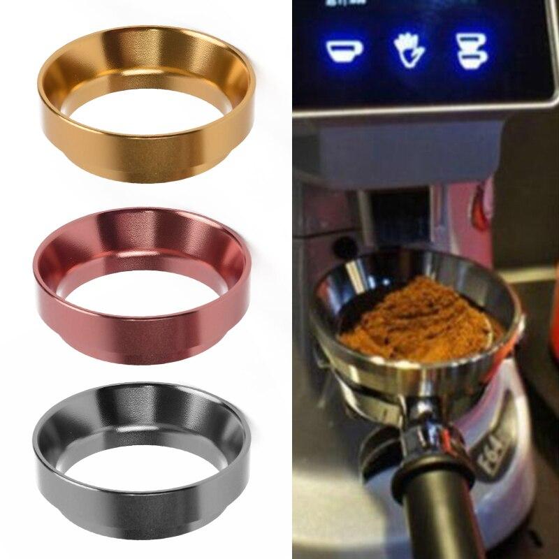 Intelligent Espresso Coffee Funnel Dosing Ring Brewing Bowl Coffee Powder For 58MM Aluminum Portafilter Coffee Tamper Cafe
