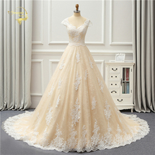 Jeanne Love 2020 New Arrival Champagne Wedding Dresses High Quality Vintage Lace Robe De Mariage JLOV75989 Vestido Noiva