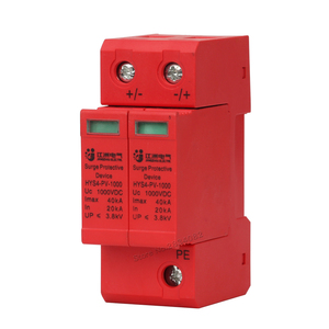 Image 2 - SPD DC 1000V 800V 500V 20KA 40KA 2P House Surge Protector Protective protection din rail Low voltage Arrester Device