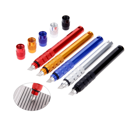 Golf Club Grooving Sharpening Tool 4 Colors Golf Groove Sharpener Wedge Club U V Type Square Regroover Blade Cleaning Tool