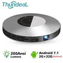 ThundeaL DLP проектор T18 Max WiFi Android 7,0 Pico Карманный HDMI для 4K 2K 16G 32G Мини СВЕТОДИОДНЫЙ Proyector 3D T18MAX портативный видеопроектор