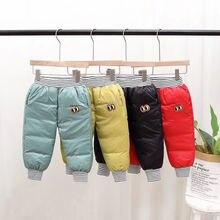2020 Детские Зимние Пуховые хлопковые брюки для маленьких девочек