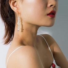 Luxury White Natural Stone Long Earrings Dangle ZA Boho Hanging Drops Women Statement Crystal Gold Color Jewelry bedas 2019(China)