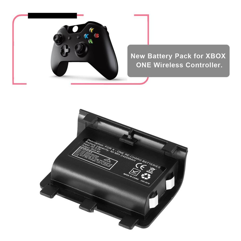 Portable 2PCS 2400mAh Battery For XBOX ONE Rechargeable Backup Battery Pack With USB Cable Charging Kit