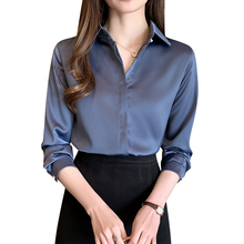 Fashion Silk Women Shirts Women Satin Blouses Eleg