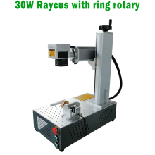 High Speed optical Mini portable Raycus 30w with rotary fiber laser marking machine