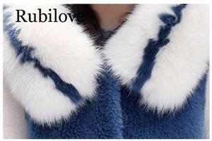 Image 5 - Delle donne 2020 di Inverno collo di Pelliccia di Volpe Con Cappuccio Faux Cappotto di Pelliccia Femminile Naturale Tosatura Delle Pecore Lungo Cappotto Giacca di Lana