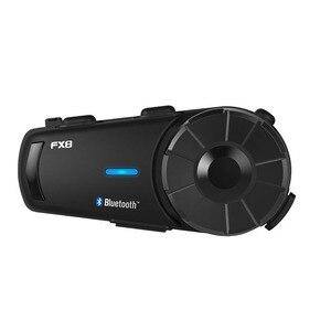 Image 1 - Fodsports FX8 interkom w kasku motocyklowym bezprzewodowy zestaw słuchawkowy bluetooth Radio FM wodoodporna grupa intercomunicador 1000m