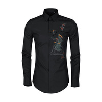 2019 New Style Origional The Primitive Embroidered Stereo And Handmade Sewing Long Sleeve MEN'S Long sleeved Shirt