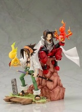18-20cm ARTFX J Anime Shaman King Figure Yoh Asakura And Hao 1/8 Scale PVC Action Figure Collection Model Toys Doll Gifts 21cm undead warlock action figure 1 8 scale painted figure windrunner doll pvc acgn figure garage kit toys brinquedos anime