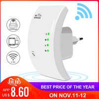 Repetidor WiFi inalámbrico amplificador WiFi de 300Mbps amplificador WiFi Wi-Fi extensor de largo alcance de señal repetidor WiFi 802.11N Punto de Acceso