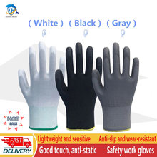 Nitrile safety coated work gloves PU and palm coated gloves safety gloves are suitable for construction and maintenance vehicles