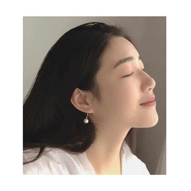 Balancent à la mode élégant créé simulé perle boucles doreilles perles chaîne moule goutte boucles doreilles pour les femmes de mariage fête cadeau perle 7267
