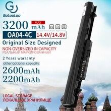 Golooloo 4 komórki bateria do laptopa HP dla COMPAQ OA04 TPN F112 TPN Q129 TPN Q131 TPN Q130 TPN Q132 dla Pavilion 14 15 240 250