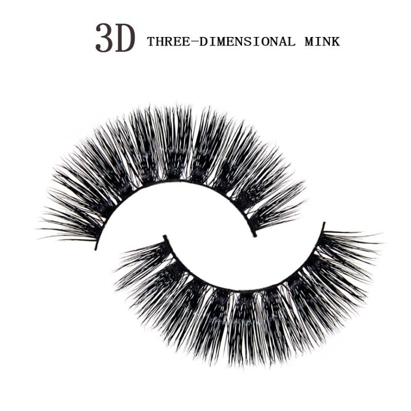 3D three-dimensional eyelashes mink full strip lashes crisscross thick long Natural eyelash Makeup Extension Tools