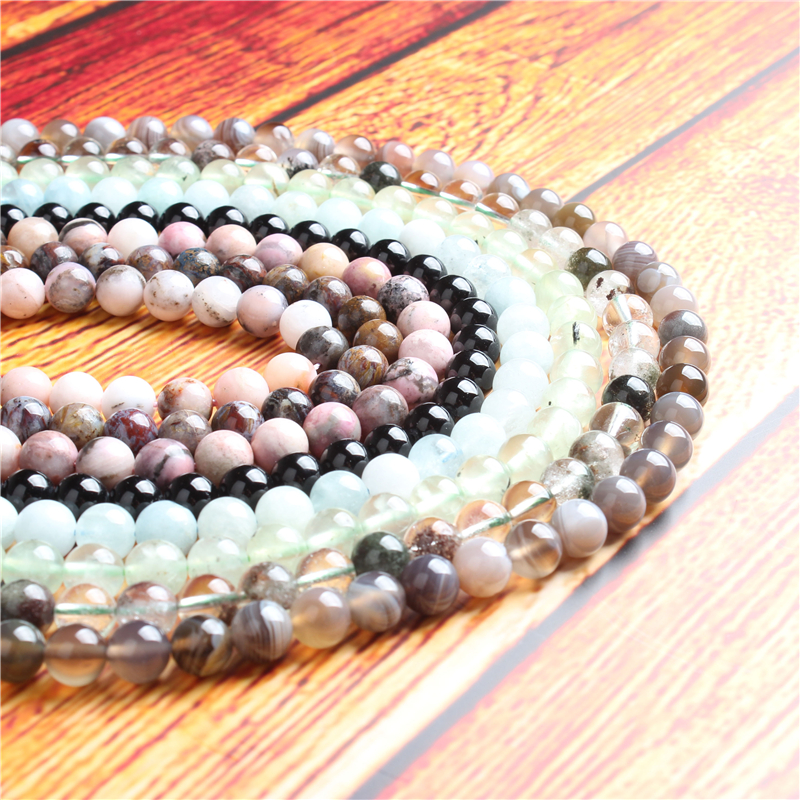 Fashion jewelry 4 / 6 / 8 / 10 / 12mm imported glitter stone beads series suitable for jewelry making DIY Bracelet Necklace