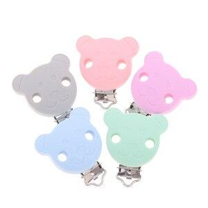 Image 2 - Fkisbox 10 шт. Медведь силиконовый коала держатель для соски BPA бесплатно мышь соски клипсы для прорезывания зубов ожерелье жевательная цепочка для прорезывания зубов застежки