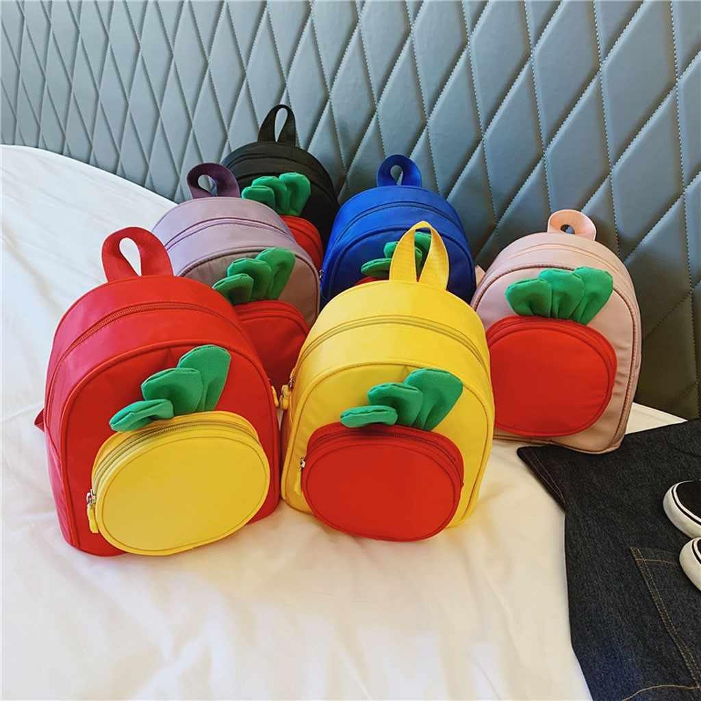 Dzieciak chłopiec dziewczyna dzieci tornister dzieci maluch kreskówka marchew tornister plecak plecak torba akcesoria dla dzieci