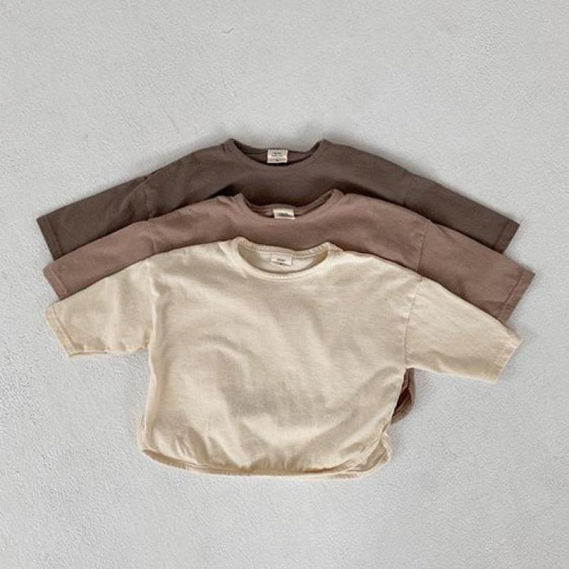 Baby Boys Long Sleeve T Shirts Cotton Girls Long Sleeve T-shirts Casual Shirt Infant Baby Kids Toddler Solid Color Tops 1