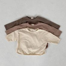 Baby Boys Long Sleeve T Shirts Cotton Girls Long Sleeve T-shirts Casual Shirt Infant Baby Kids Toddler Solid Color Tops