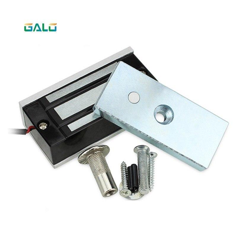 Free shipping DC12V  24V electromagnetic lock magnetic lock 60Kg 100Lbs holding force for showcase cabinet door frameless glass