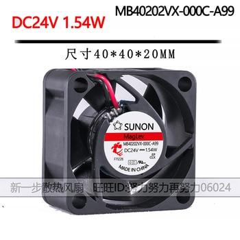 For Sunon MB40202VX-000C-A99 4cm 4020 40X40X20mm fan DC 24V 1.54W Inverter recorder cooling fan 2pcs kde1204pkv3 4020 40x40x20mm dc 12v 0 40w server inverter cooling fan