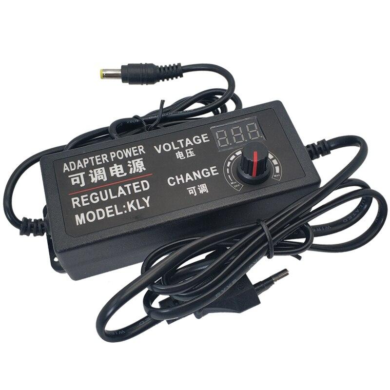 Ac ajustável para dc 3 v 9 v 12 v 24 v 2a fonte de alimentação display tela potência iluminação transformadores 3 9 12 24 v volt para a luz da lâmpada led