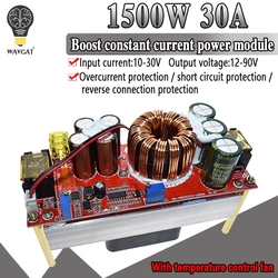 DC-DC 1500W 30A Voltage Step Up Converter Boost CC CV Power Supply Module Step Up Constant Current Module DC-DC 10-60V to 12-97V