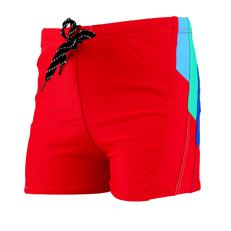 New Style Swimming Trunks Children Boxer Shu Quick-Dry Beach Shorts Students Mixed Colors Swimming Shorts A Generation